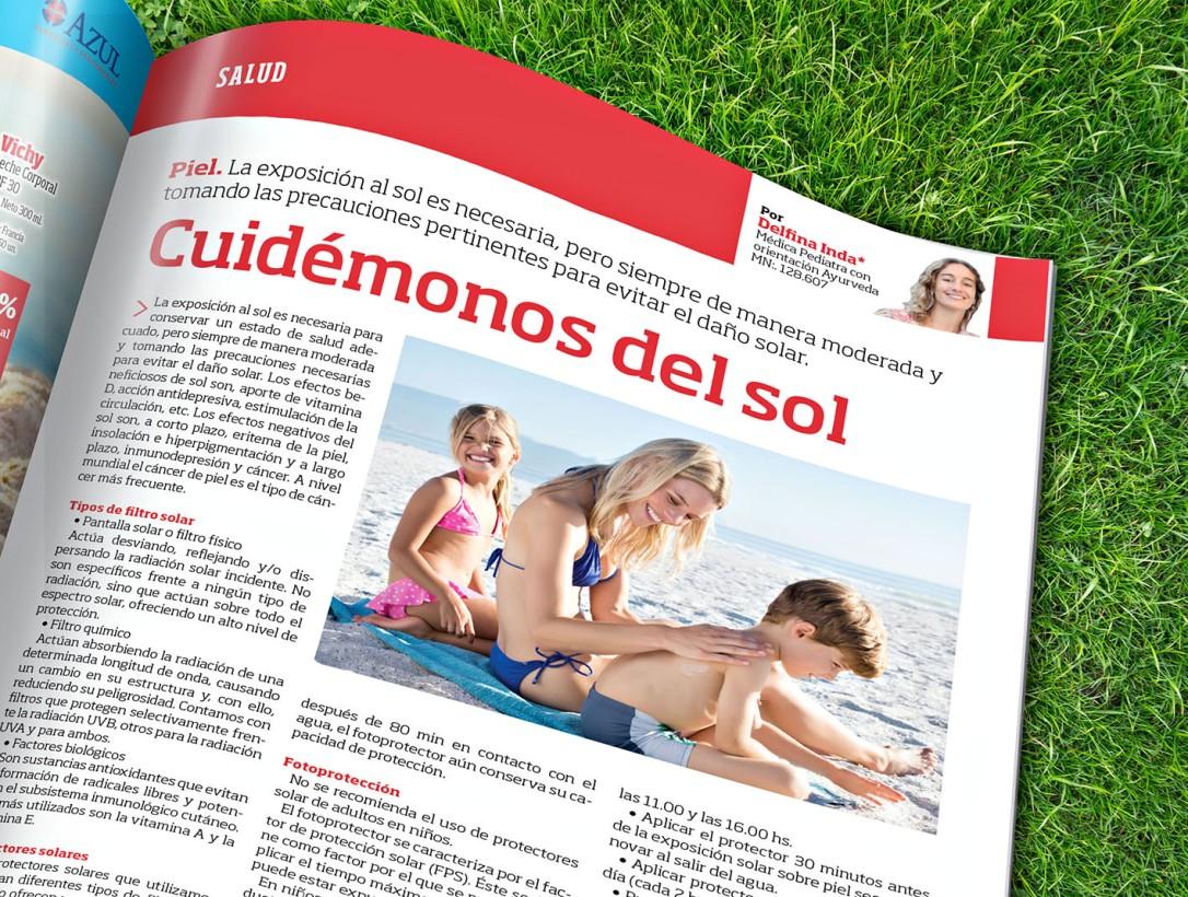 Nota Revista Azul Protectores Solares